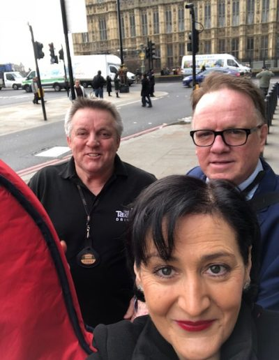 House of Lords, Westminster. With CEO James Winston and my driver, Mr Paul Bird